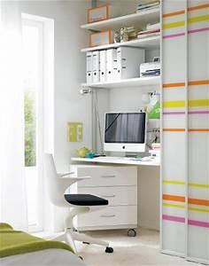 Mini Büro Im Schrank : arbeitszimmer schreibtisch versteckt hinter gleitt ren sch ner wohnen ~ Bigdaddyawards.com Haus und Dekorationen