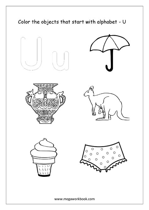 colors that start with o the letter u coloring pictures that start with coloring pages