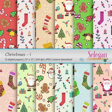 christmas  digital paper scrapbooking paperx