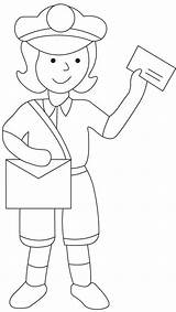 Postman Coloring Mailman Drawing Pages Sheets Mail Preschool Colouring Postwoman Postal Printable Community Worksheets Helpers Books Sketch Craft Crafts Bestcoloringpages sketch template