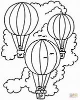 Coloring Balloon Air Printable Simple Popular sketch template