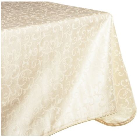 lenox tablecloth lenox opal innocence 60 by 120 inch oblong rectangle tablecloth ivory new ebay