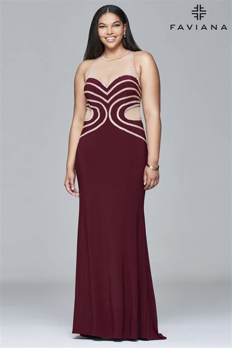 Faviana 9403 Sexy Dress Fitted Plus Size Long Gown | Dress ...