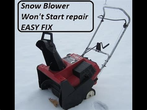 How To Fix A Snow Blower That Won't Start Funnycattv
