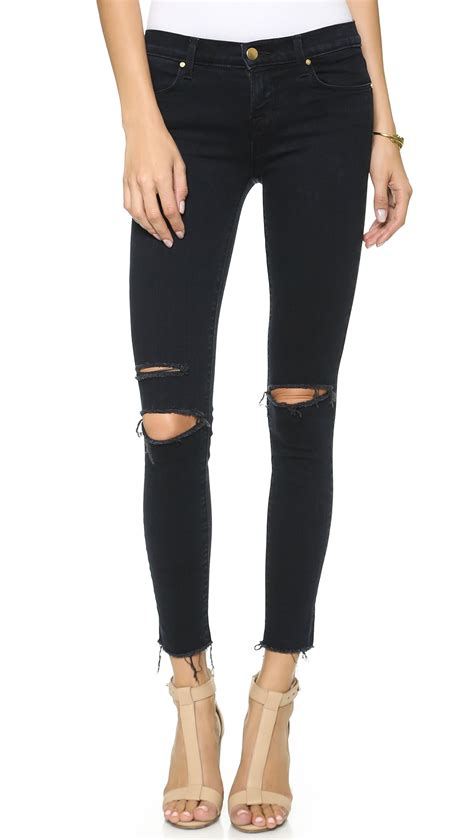 Lyst  J Brand 8227 Mid Rise Ankle Skinny Jeans In Blue