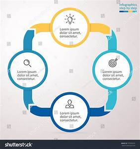 Infographics Step By Step  Flat Chart  Graph  Diagram With