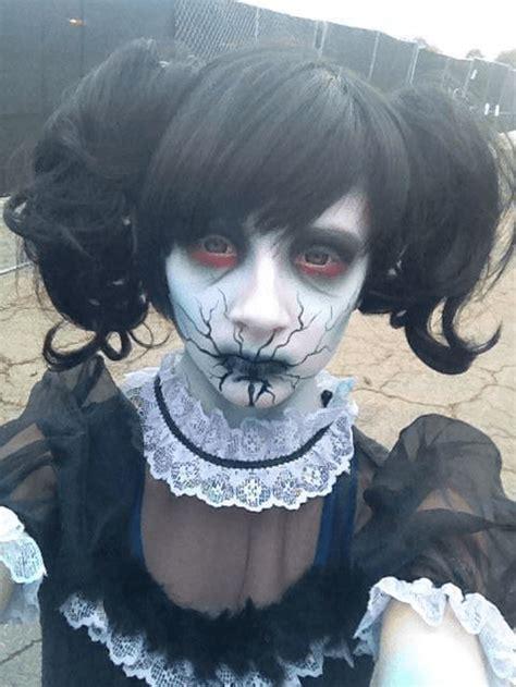 halloween makeup creepy face looks