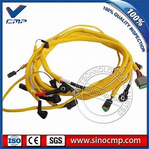 6743 81 8310 Digger Engine Wiring Harness For Komatsu