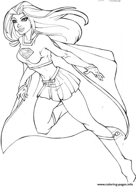supergirl  coloring pages printable