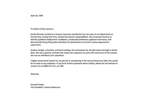 Letter Of Recommendation Sle For Former Employee The A Definitive Guide To Recommendation Letters Free