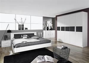 lit adulte design avec chevets coloris blanc carcassonne With deco chambre design adulte