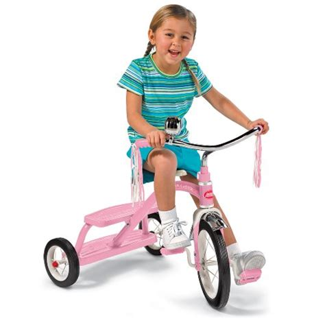 radio flyer girls classic dual deck tricycle pink free