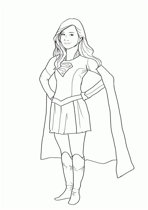 supergirl coloring pages  coloring pages  kids