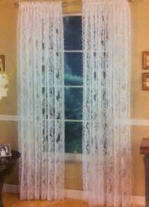 White lace rose window curtain for bedroom living room