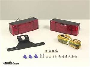 Waterproof  Over 80 U0026quot  Led Trailer Light Kit With 25 U0026 39  Wiring