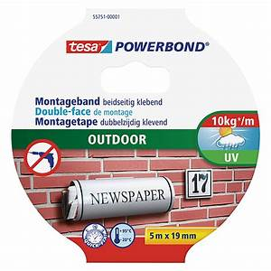Tesa Powerbond Outdoor : tesa powerbond montageband 5 m x 19 mm wasserbest ndig 6353 null hcdb null hcd ~ Frokenaadalensverden.com Haus und Dekorationen