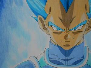 Drawing Vegeta Super Saiyan God: Resurrection F (Fukkatsu ...