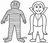 Mummy Coloring Halloween Vampire Pages Printable Template Mummies Coffin Cute Face Preschool Cartoon Scary Happy Getcoloringpages Templates Bigactivities sketch template