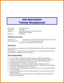 Dental Receptionist Duties Resume by 3 Dental Receptionist Description Resume Joblettered