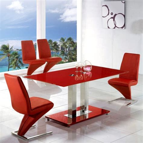 Red Dining Table And Chairs  Marceladickcom