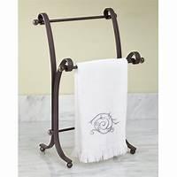 bathroom towel holder Bath Hand Towel Stand Rack Bronze Bathroom Standing Holder ...