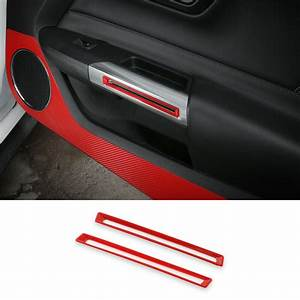 Car Inner Door Handle Frame Trim Cover For Ford Mustang 2015+ Red Accessories | eBay