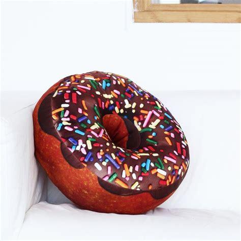 Donut Kissen  bequemes Sitzkissen als Donut mit Tragetasche