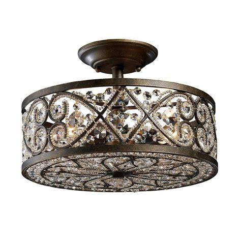 titan lighting dione  light polished nickel ceiling semi
