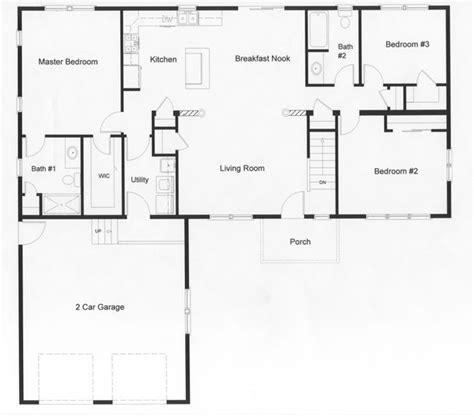2 open floor plans floor plans for ranch homes open floor plan with the