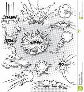 Vector Comic Book Explosion Bubbles Stock Vector - Image ...