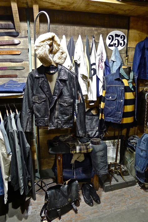 navy leather levi s vintage clothing store