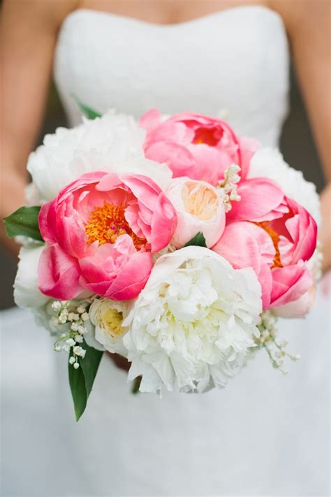 25 Best Ideas About Coral Peony Bouquet On Pinterest