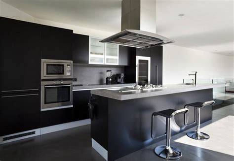 mat iels de cuisine professionnel cuisine modele glace noir mat design et élégant idées