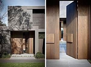 porte entree contemporaine bois With porte d entree maison contemporaine