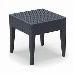 Table Basse Resine Tressee : table basse de jardin carr e en r sine imitation tressage ~ Teatrodelosmanantiales.com Idées de Décoration
