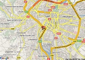 Map of Best Western Hotel Charlemagne, Lyon