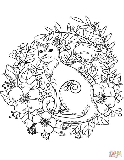 Cat coloring page from Cats category Select from 27968