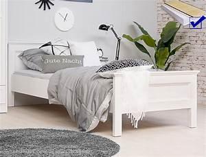 Jugendbett Weiß 90x200 : jugendbett landstr m 61 wei 90x200 singlebett lattenrost matratze wohnbereiche schlafzimmer ~ Orissabook.com Haus und Dekorationen