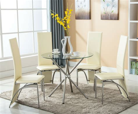 piece  chairs dining table set  glass high