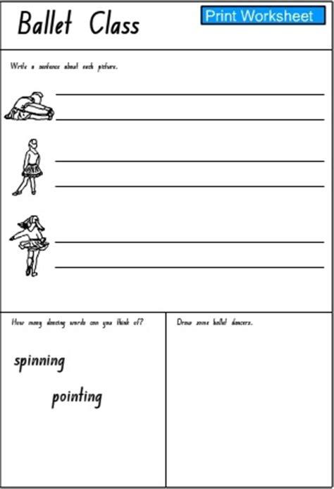 ballet class response activity sheet  studyladder