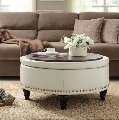 Ottoman As Coffee Table by White Leather Ottoman Coffee Table Furniture Roy Home Design