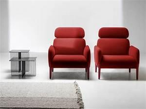 fauteuil de salon design pour un interieur moderne With tapis kilim avec canapé tissu dossier haut
