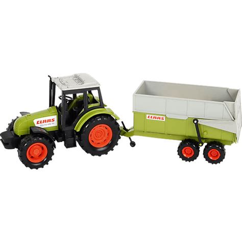 traktor mit anhänger claas traktor mit anh 228 nger dickie toys mytoys