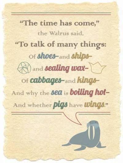 time    walrus   talk