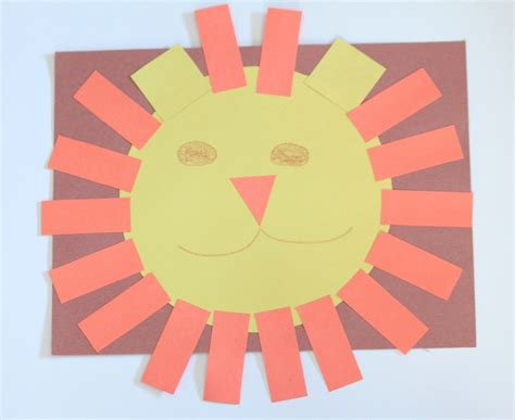 lion preschool craft shapes theme the letter l and the number 1 in preschool 254