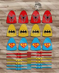 superhero lollipops superhero capes and masks birthday With superhero lollipop cape template