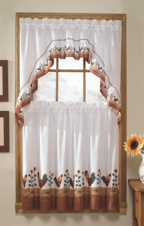 white country kitchen curtains roosters curtains country kitchen curtains
