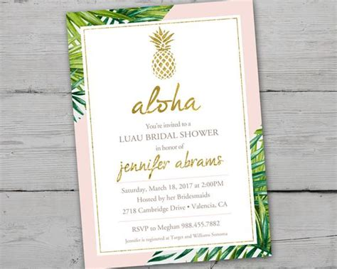 gold pineapple bridal shower invitation printable gold