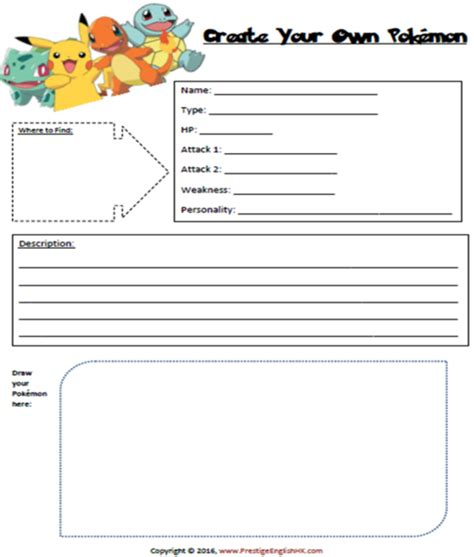 Create Your Own Pokemon  Free Download  Prestige English