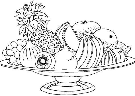 dibujos de frutas  colorear